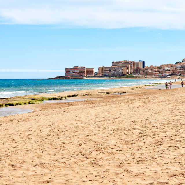 """La Mata is a small town located 5 km northeast of Torrevieja along the Costa..."" stock image"