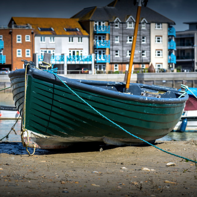 """Green boat"" stock image"