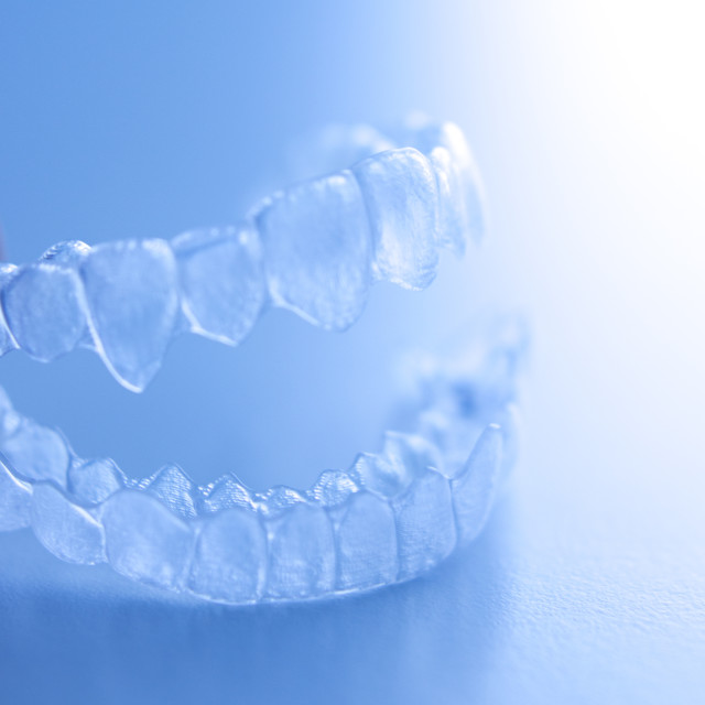 """Invisible dental aligner"" stock image"