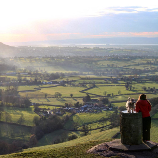 """Coaley Peak, Stroud."" stock image"
