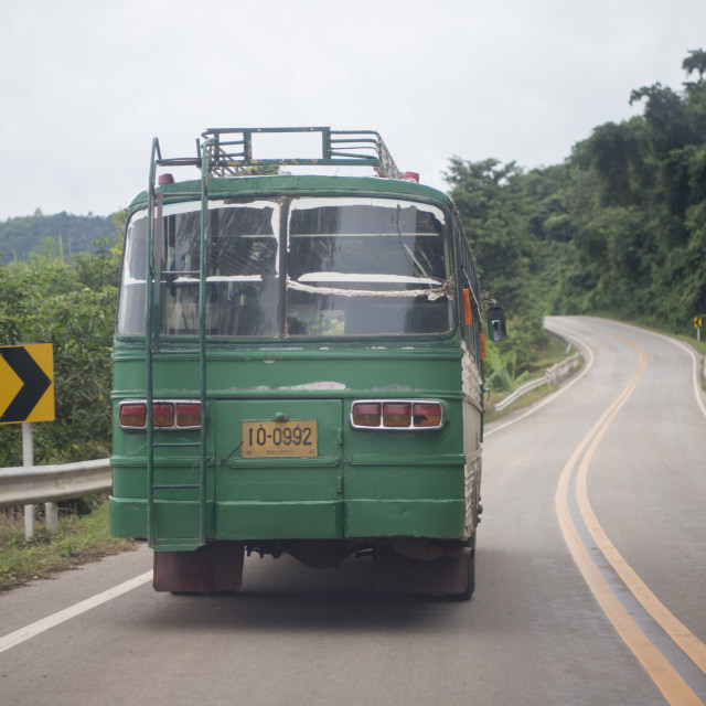 """THAILAND ISAN NONG KHAI BUS TRANSPORT"" stock image"