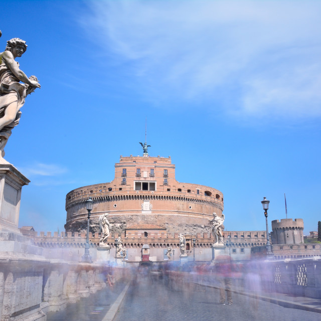 """Castle of San Angelo in Rome."" stock image"