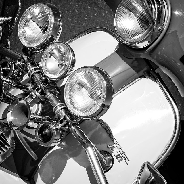 """Lambretta lights"" stock image"
