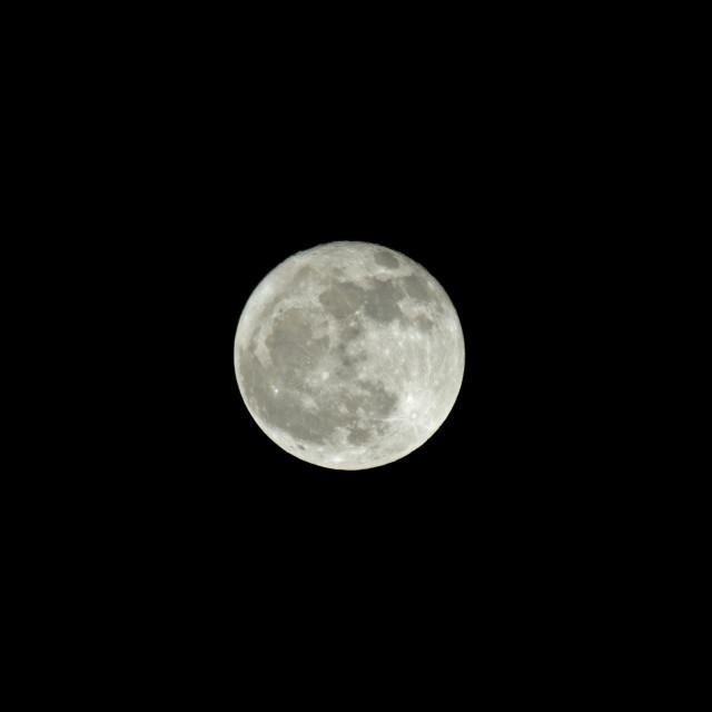 """""""Waning Gibbous Moon"""" stock image"""