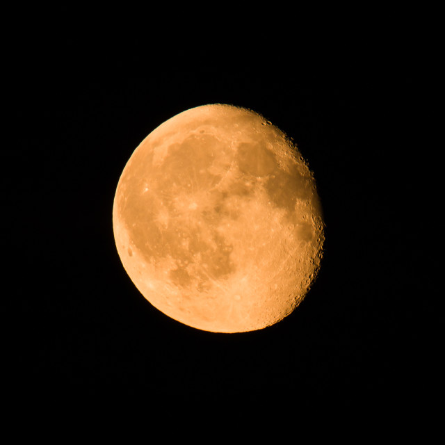 """Gibbous Moon"" stock image"