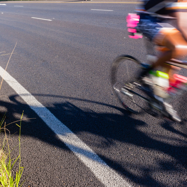 """""""Cycling Road Speed Blur"""" stock image"""