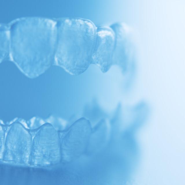 """Invisible dental bracket"" stock image"