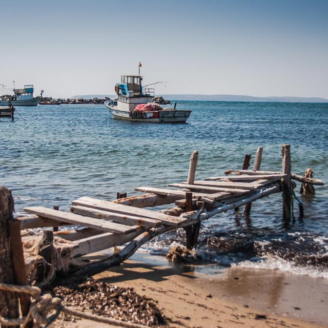 """""""Broken Pier I"""" stock image"""