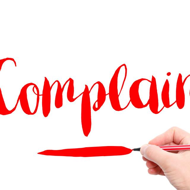 """Complain"" stock image"