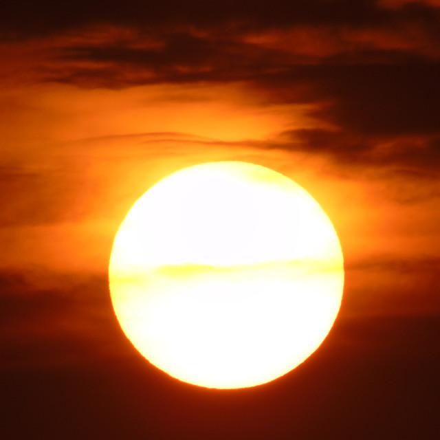 """The Sun At Full Range"" stock image"