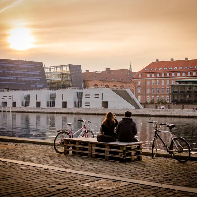 """""""Sunset in Copenhagen"""" stock image"""