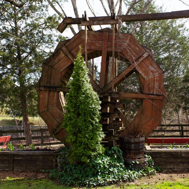 """Vintage paddlewheel"" stock image"