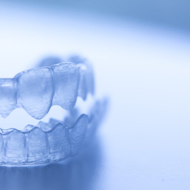 """Invisible dental bracket"" stock image"