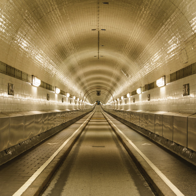 """St- Pauli Elbe tunnel, Hamburg, Germany"" stock image"
