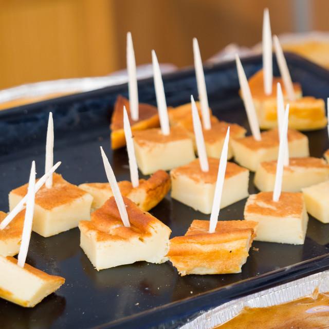 """delicious artesanal cheesecake"" stock image"