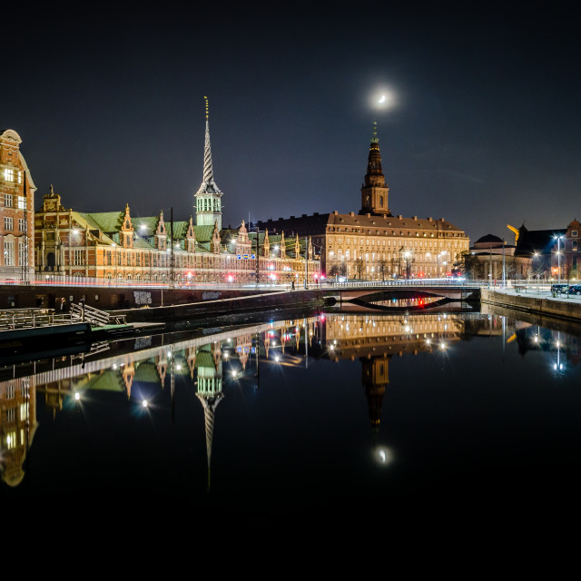 """""""Canal reflection"""" stock image"""