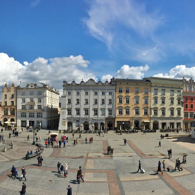 """""""Krakow panorama"""" stock image"""