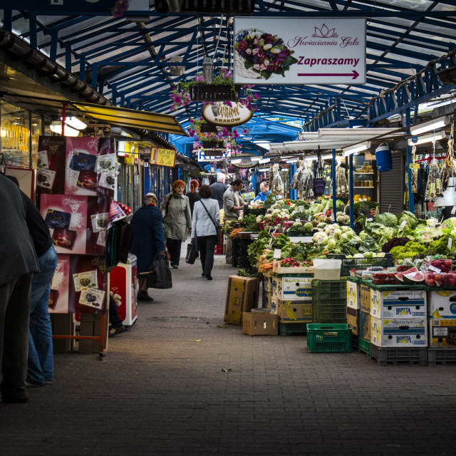 """The Vegetable Market"" stock image"