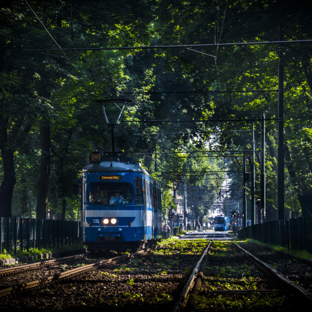 """The Tram"" stock image"