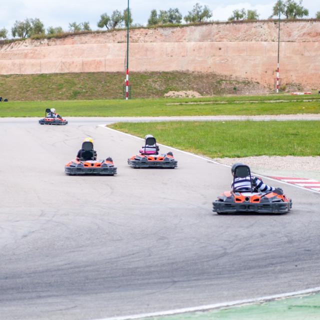 """Karting race"" stock image"