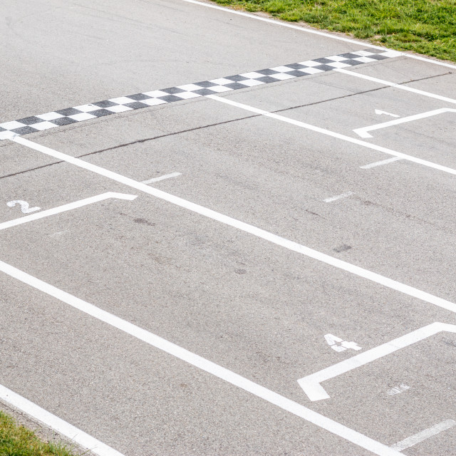 """Finish line in the circuit"" stock image"