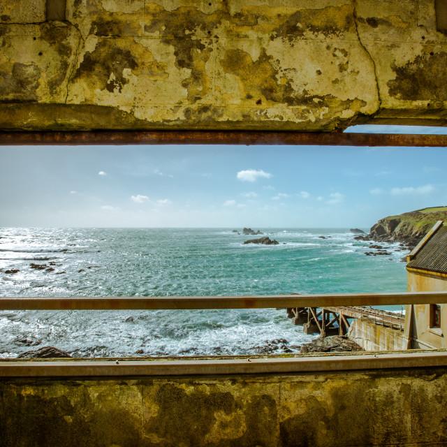 """Lizard Life-boat house framed"" stock image"