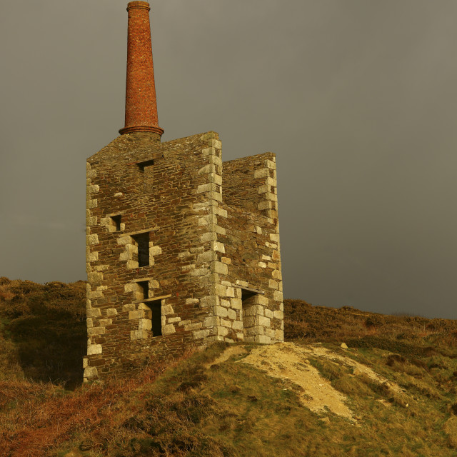 """Tin Mine ruin"" stock image"