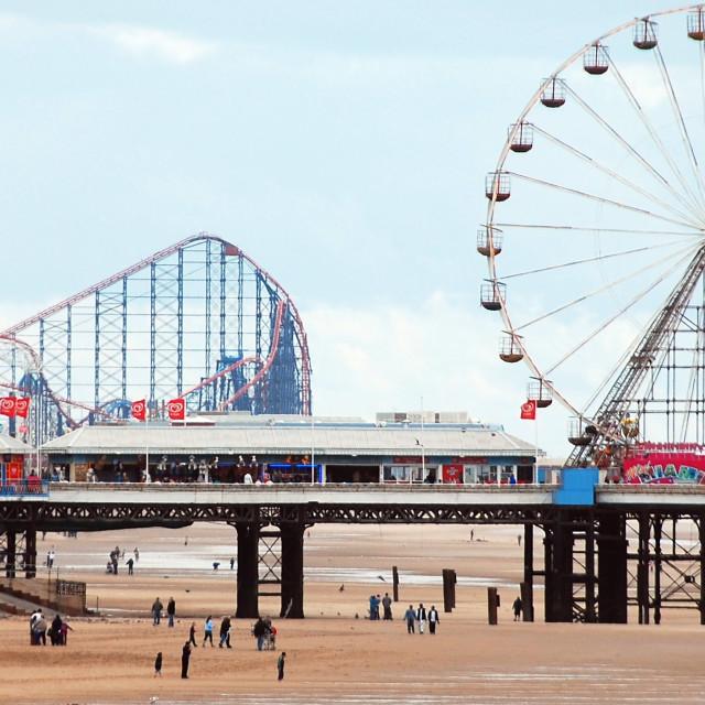 """Blackpool Beach"" stock image"
