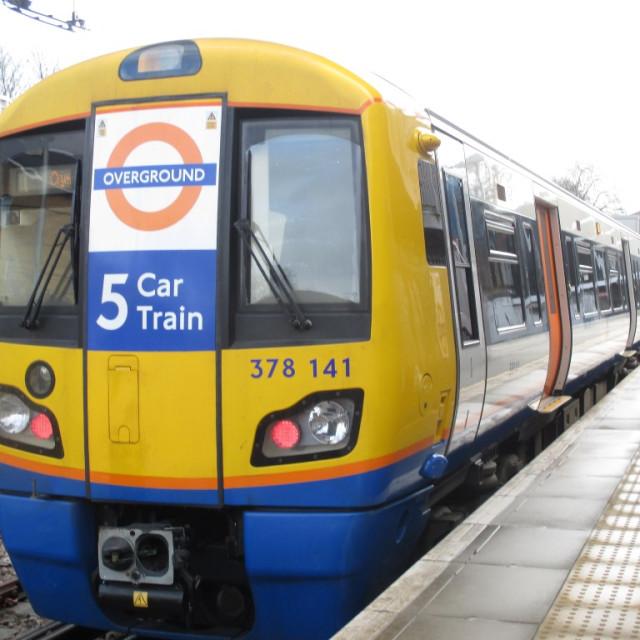 """London Overground Train"" stock image"