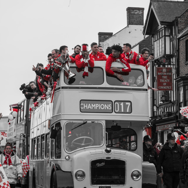 """Lincoln City FC - Open top bus parade"" stock image"