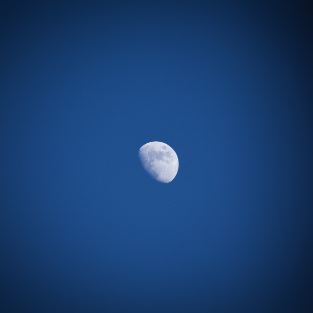 """Deep Lunar Blue"" stock image"