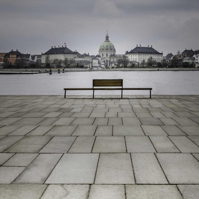 """Looking towards Fredericks Church in Copenhagen"" stock image"