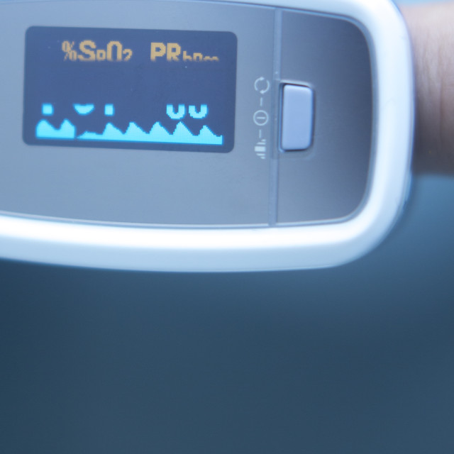"""Blood pressure finger monitor"" stock image"