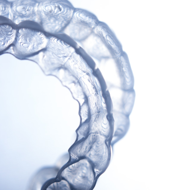 """""""Invisible dental brackets"""" stock image"""