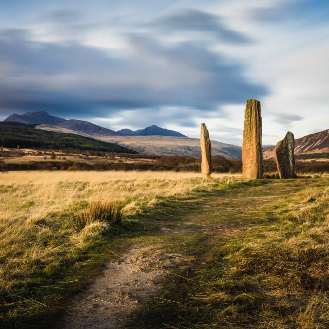 """""""Standing Stones - Machrie Moor"""" stock image"""