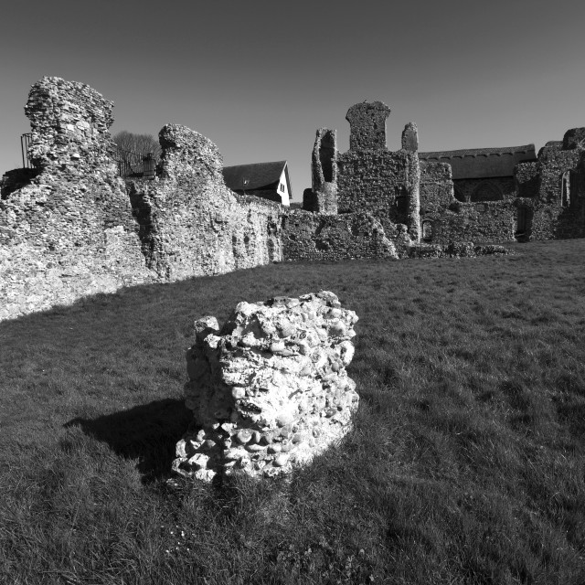 """""""Spring, April, March, The ruins of Leiston Abbey near Aldeburgh in Suffolk..."""" stock image"""