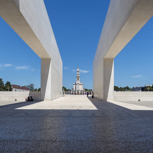 """Fatima, Portugal - May 13, 2014: View of the Sanctuary of Fatima during the celebrations of the apparition of the Virgin Mary in Fatima, Portugal."" stock image"