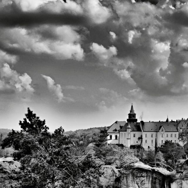"""castles hruba skala and trosky"" stock image"