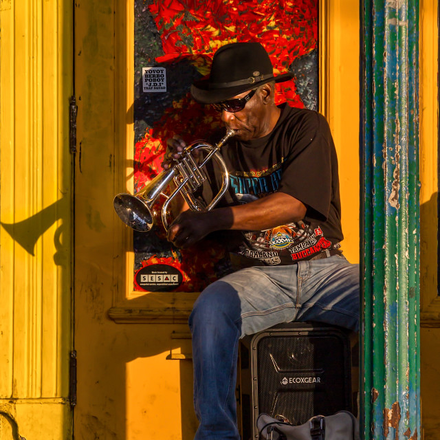 """Musician on Frenchmen Street"" stock image"
