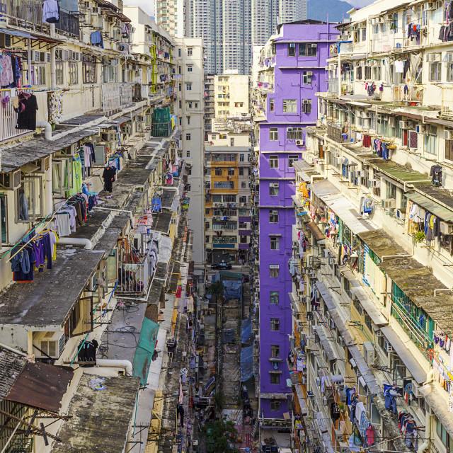 """hong kong public estate"" stock image"