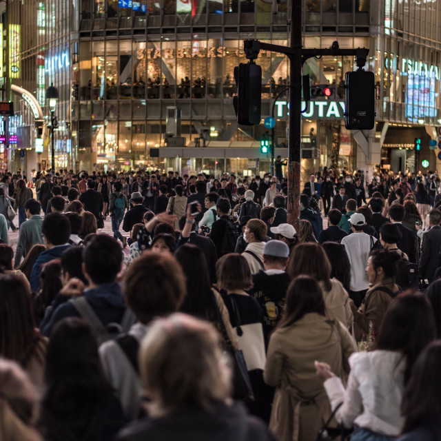 """tokyo crowds"" stock image"