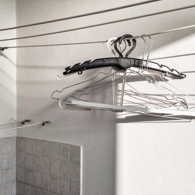 """""""Hang, hangers, hanged"""" stock image"""