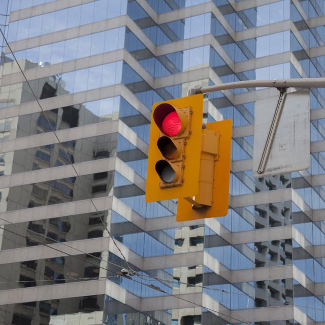 """Traffic light, city centre"" stock image"
