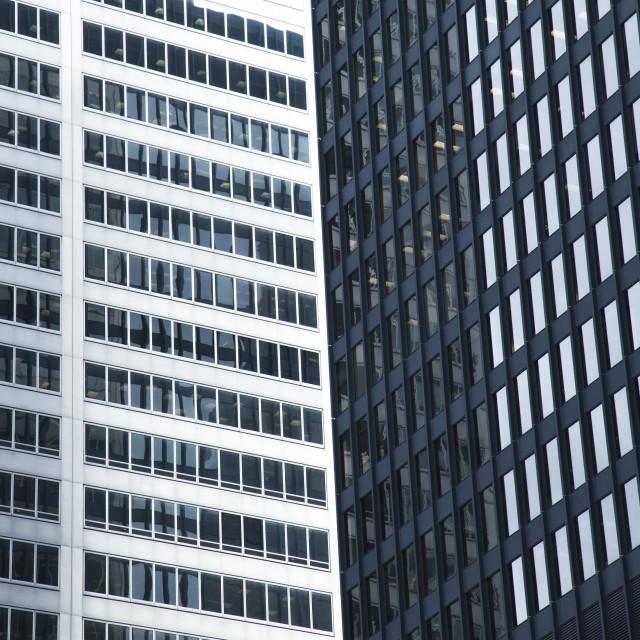 """Modern glass skyscrapers in Toronto"" stock image"