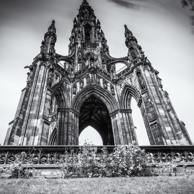 """The Scott Monument, Edinburgh"" stock image"