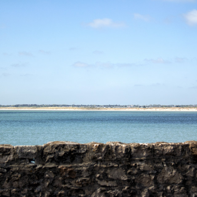 """Dollymount Strand, Bull Island"" stock image"
