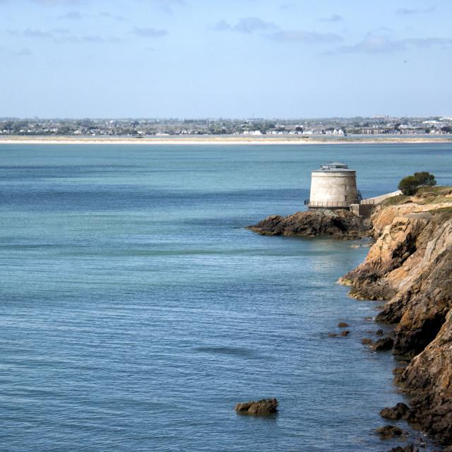 """Martello Tower Dublin Bay"" stock image"