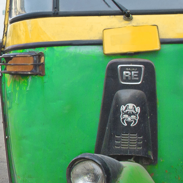 """Autorickshaw - mode of shared transport in India"" stock image"