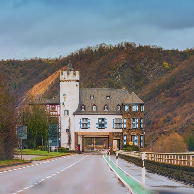 """Through the Gondorf Castle near Kobern Gondorf"" stock image"