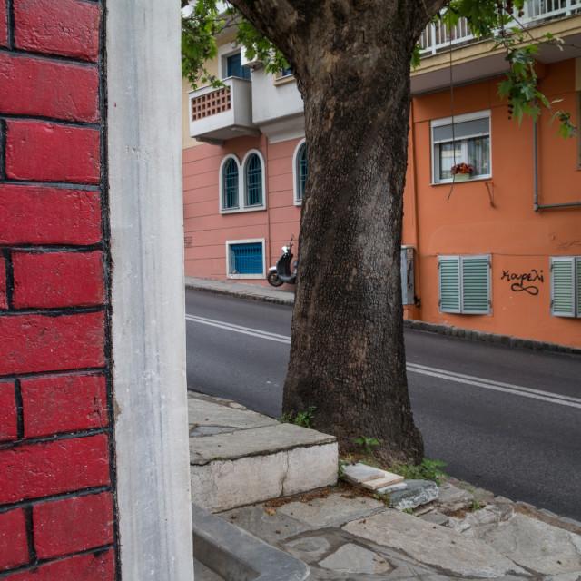 """Streets of Thessaloniki"" stock image"